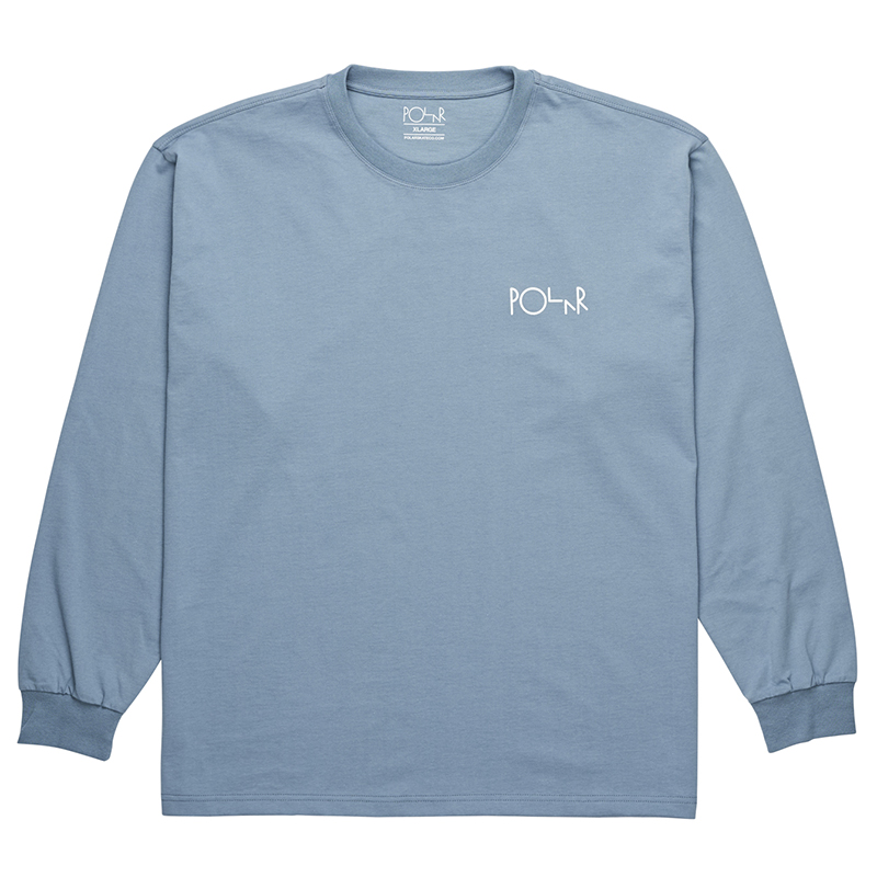 Polar Stroke Logo Longsleeve T-Shirt Captains Blue