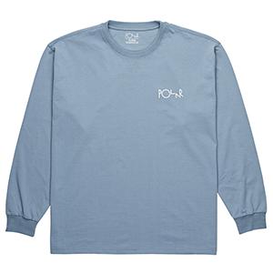 Polar Stroke Logo Longsleeve T-Shirt Captains Blue