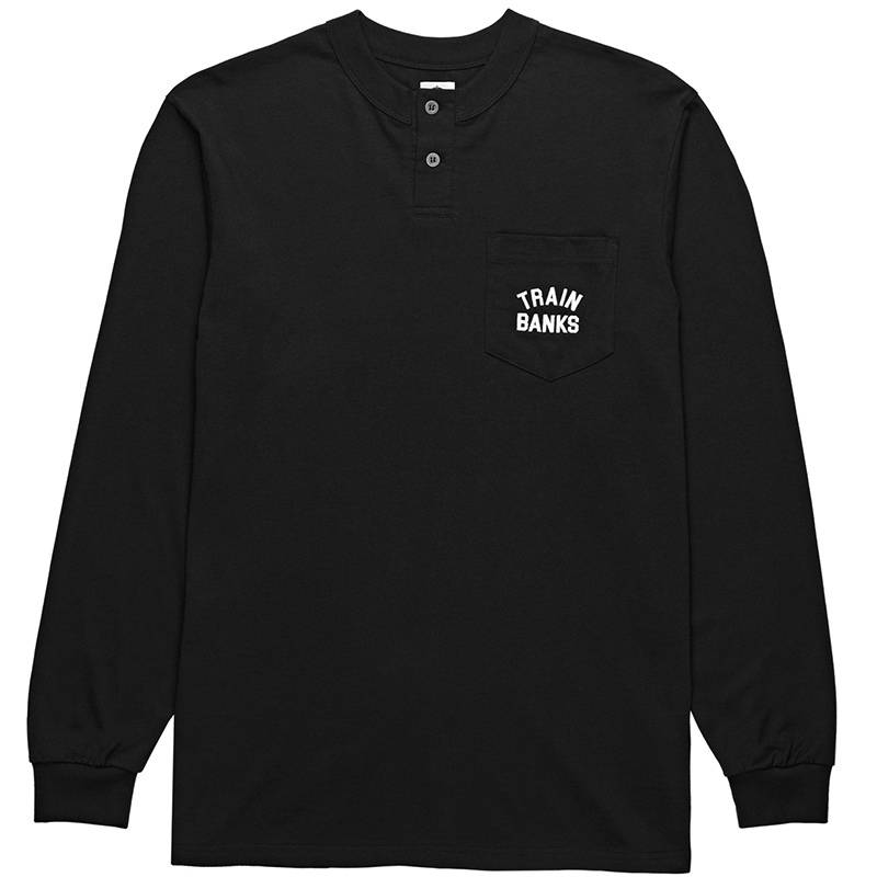 Polar Train Banks Henley Longsleeve T-Shirt Black