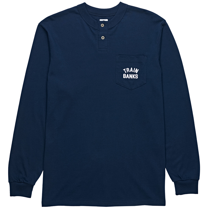 Polar Train Banks Henley Longsleeve T-Shirt Navy