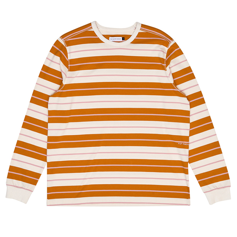 Pop Trading Company Striped Longsleeve Spruce Yellow
