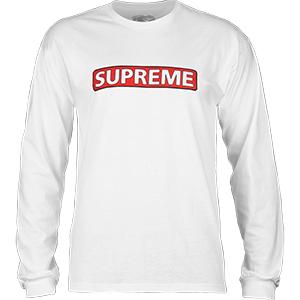 Powell-Peralta Supreme Longsleeve T-Shirt White