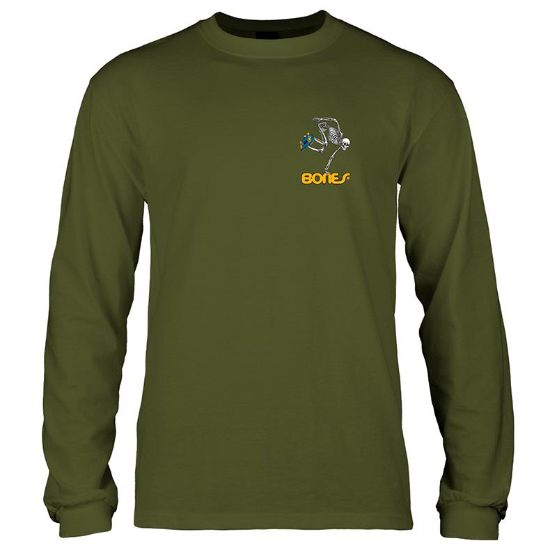 123665dfb6 Powell Peralta Kids Skateboard Skeleton Longsleeve T-Shirt Green