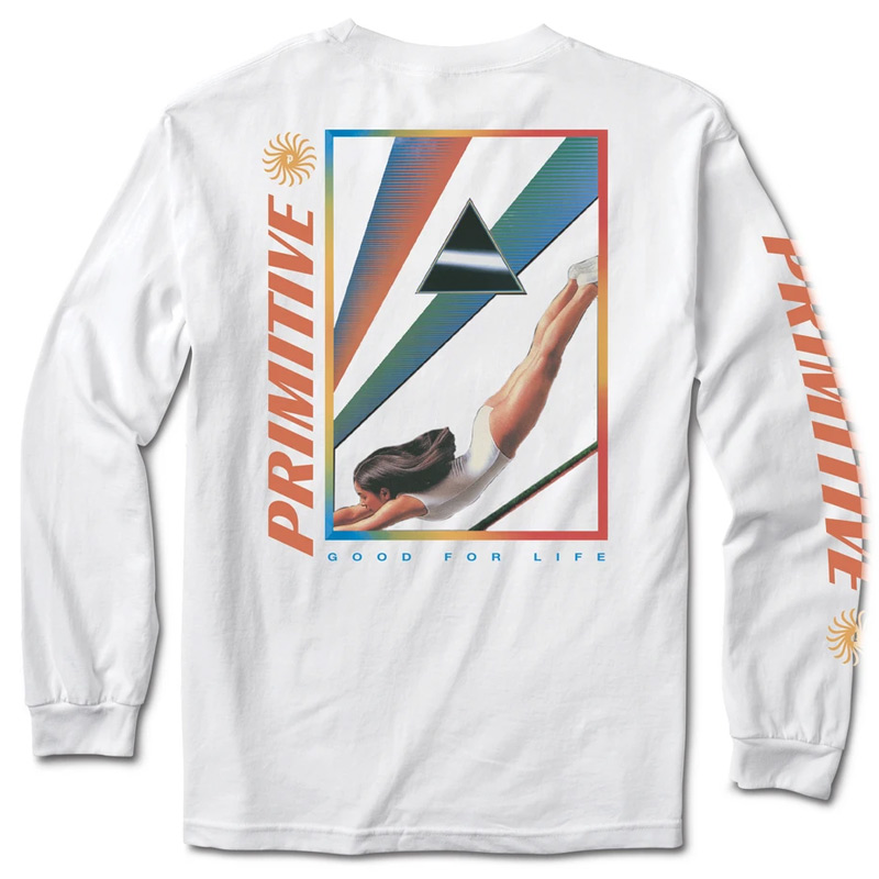 Primitive Dive Longsleeve T-Shirt White