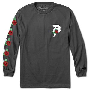 Primitive Dos Flores Over Dye Longsleeve T-Shirt Vintage Black