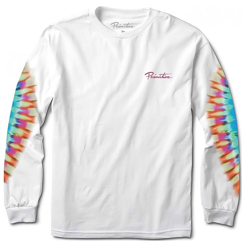 Primitive Mini Nuevo Tie Dye Longsleeve T-Shirt White