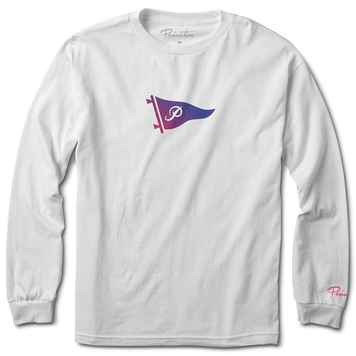 Primitive Tone Pennant Longsleeve T-Shirt White
