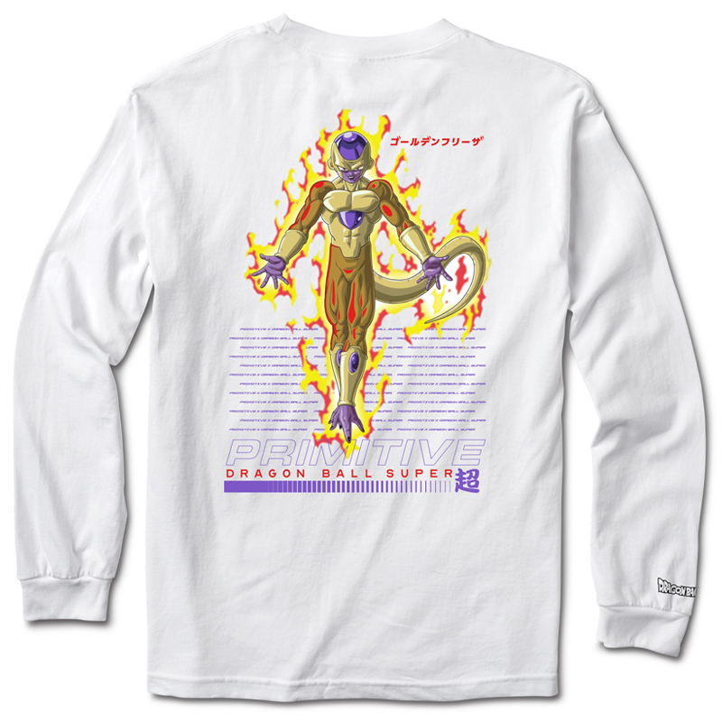 Primitive x DBS Golden Frieza Longsleeve T-Shirt White