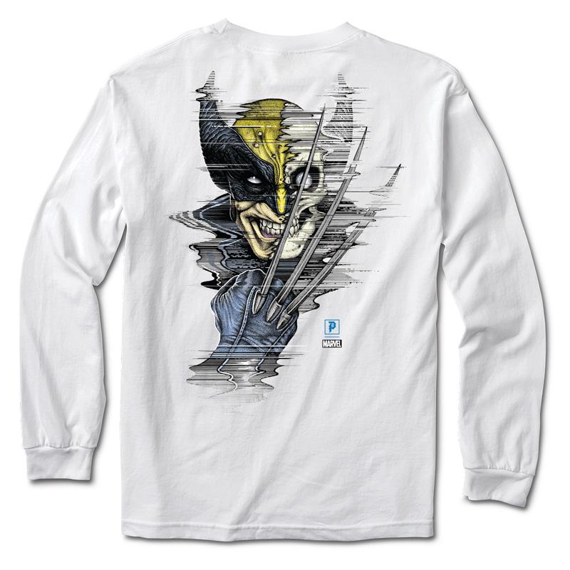 Primitive x Marvel x Paul Jackson Wolverine Longsleeve T-Shirt White