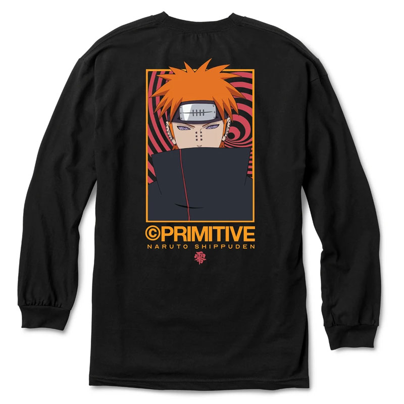 Primitive x Naruto Know Pain Longsleeve T-Shirt Black