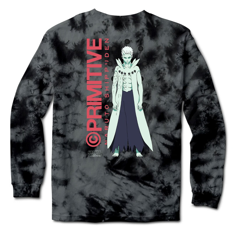 Primitive x Naruto Obito Washed Longsleeve T-Shirt Black
