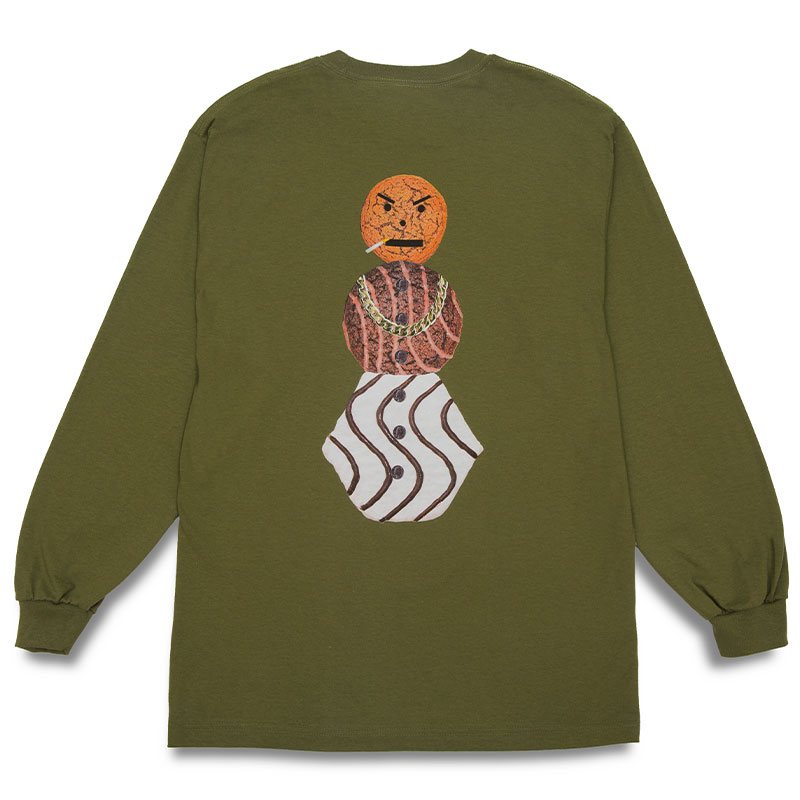 Quartersnacks Snackman Longsleeve T-Shirt Olive