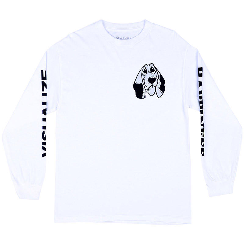 Quasi Happiness Longsleeve T-Shirt White