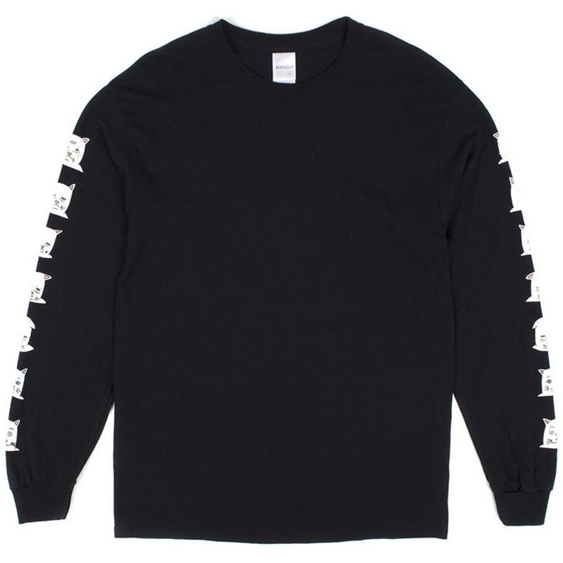 RIPNDIP Caturdays Longsleeve T-Shirt Black