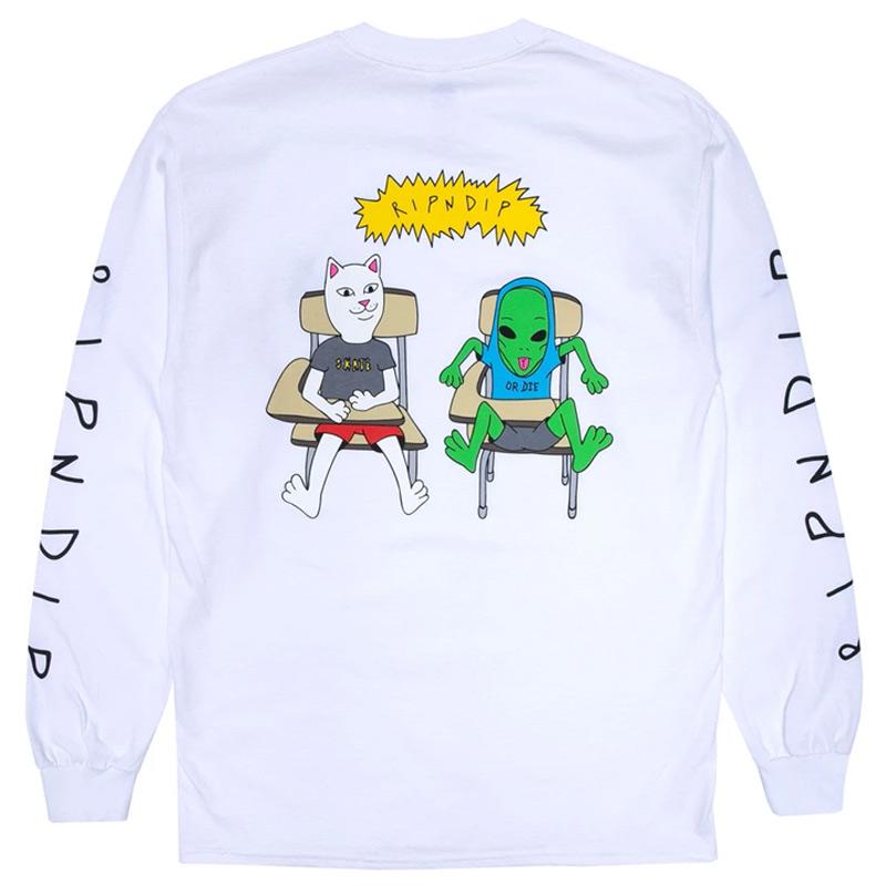 RIPNDIP Butts Up Longsleeve T-Shirt White