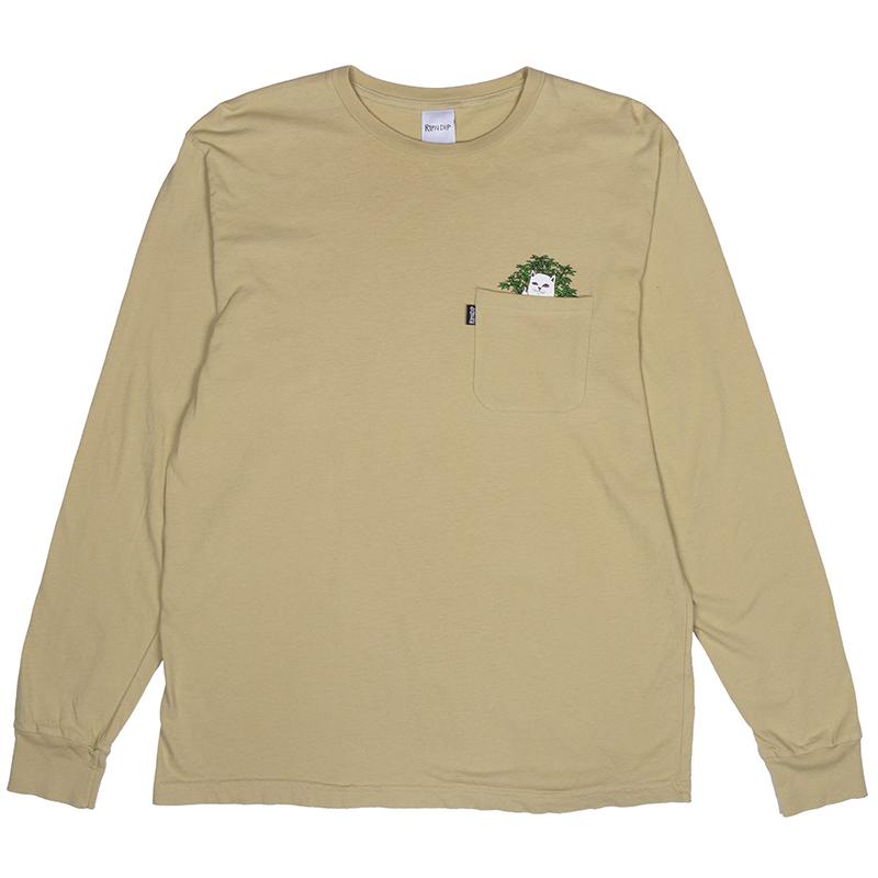 RIPNDIP Catnip Longsleeve T-Shirt Mustard