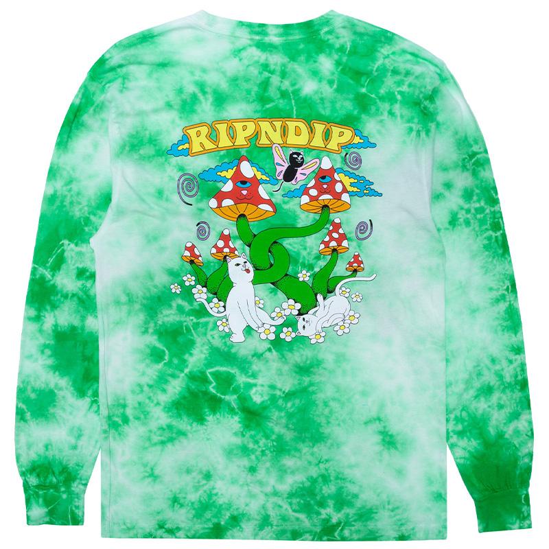RIPNDIP Cloud Sixty Nine Longsleeve T-Shirt Lime Cloud Wash
