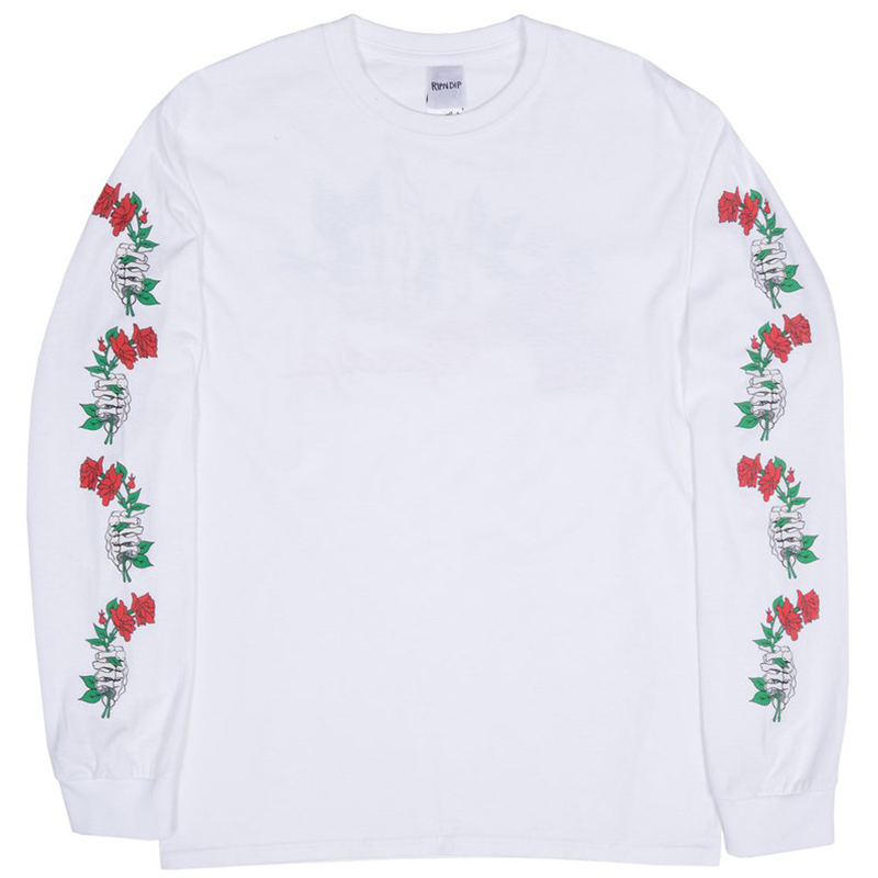 RIPNDIP Dead Rose Longsleeve T-Shirt White
