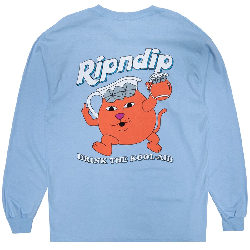 RIPNDIP Drink Me Longsleeve T-Shirt Light Blue