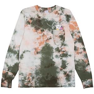 RIPNDIP Flowers For Bae Pocket Longsleeve T-Shirt Green/Pink Acid Wash