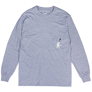 RIPNDIP Hang In There Longsleeve T-Shirt Athletic Heather
