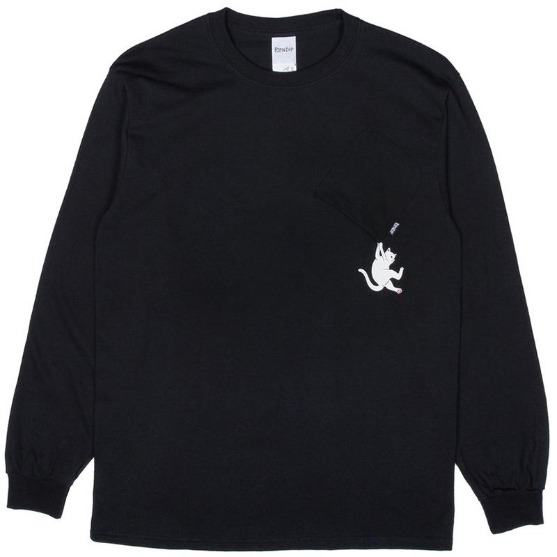 RIPNDIP Hang In There Longsleeve T-Shirt Black