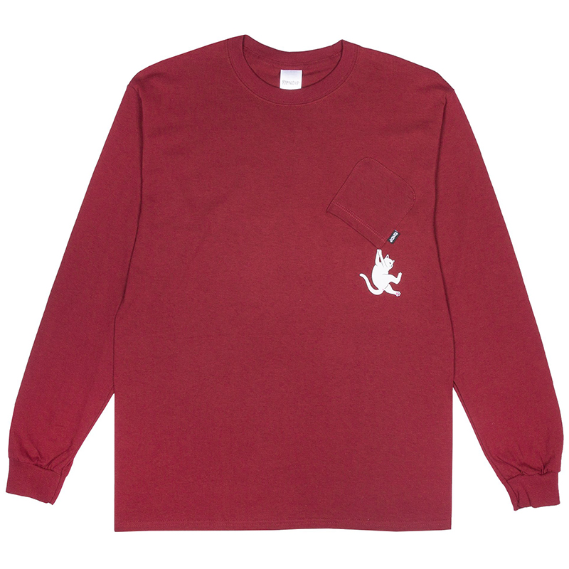 RIPNDIP Hang In There Longsleeve T-Shirt Burn Orange