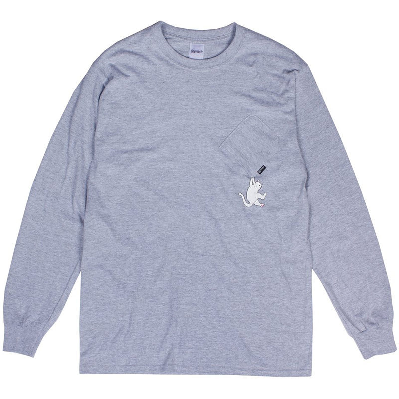 RIPNDIP Hang In There Longsleeve T-Shirt Heather Grey