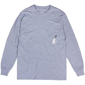 RIPNDIP Hang In There Longsleeve T-Shirt Heather Grey