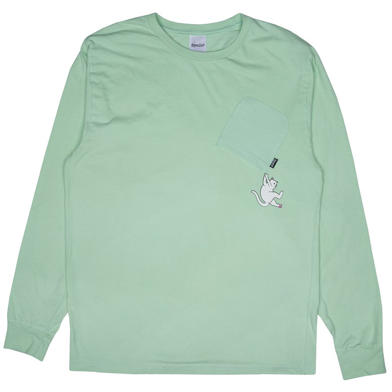 RIPNDIP Hang In There Longsleeve T-Shirt Mint