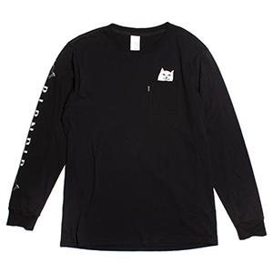 RIPNDIP Lord Nermal Pocket Longsleeve T-Shirt Black