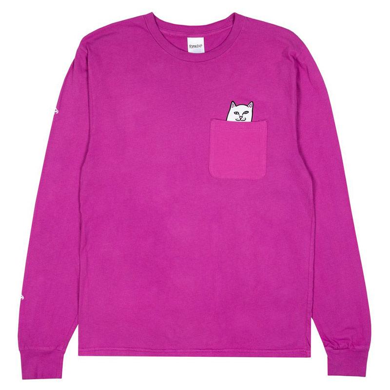 RIPNDIP Lord Nermal Longsleeve T-Shirt Fuchsia