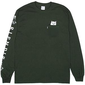 RIPNDIP Lord Nermal Longsleeve T-Shirt Hunter Green
