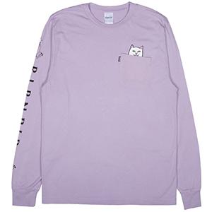 RIPNDIP Lord Nermal Longsleeve T-Shirt Lavender