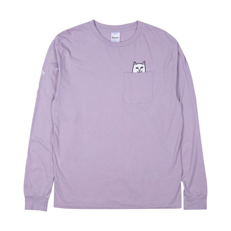 RIPNDIP Lord Nermal Longsleeve T-Shirt Light Purple