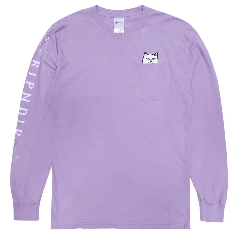 RIPNDIP Lord Nermal Longsleeve T-Shirt Mauve
