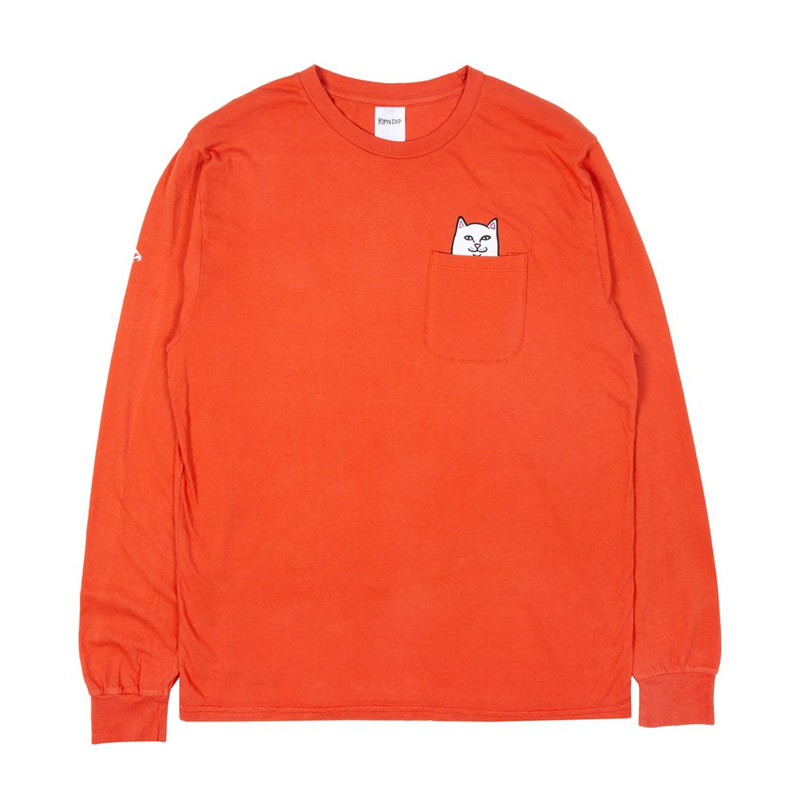 RIPNDIP Lord Nermal Longsleeve T-Shirt Texas Orange