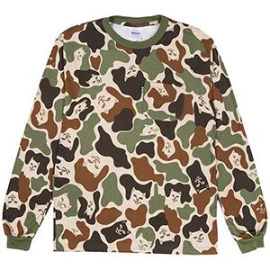 RIPNDIP Lord Nermal Pocket Longsleeve T-Shirt Army Camo