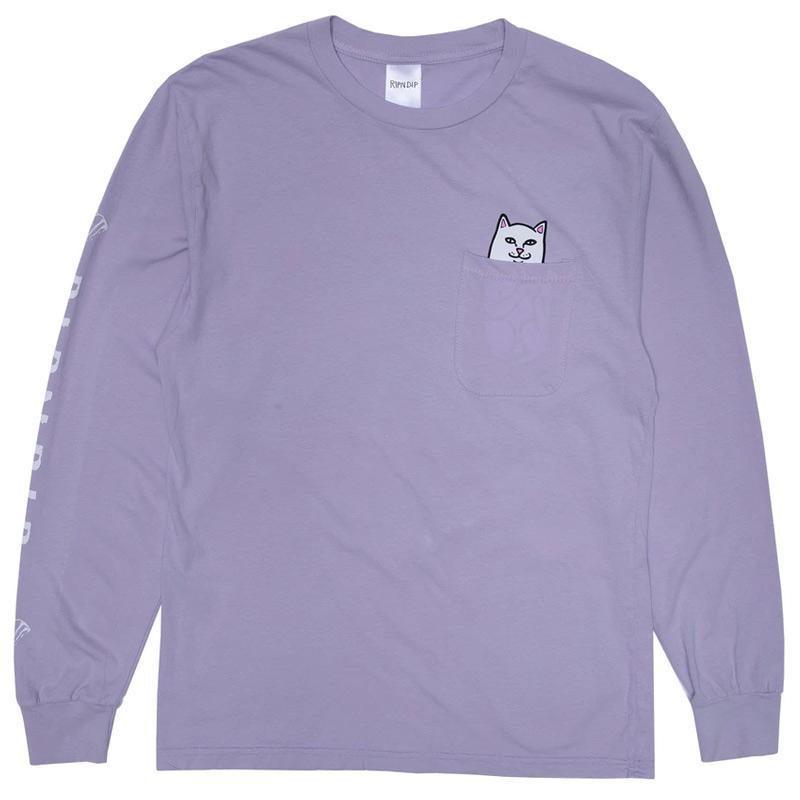RIPNDIP Lord Nermal Pocket Longsleeve T-Shirt Lavender