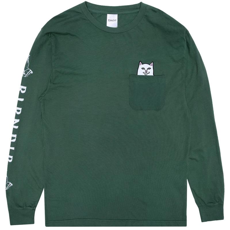 RIPNDIP Lord Nermal Pocket T-Shirt Longsleeve T-Shirt Olive