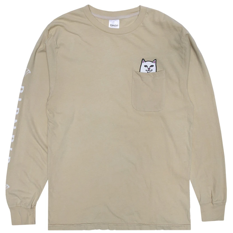 RIPNDIP Lord Nermal Pocket T-Shirt Longsleeve T-Shirt Tan