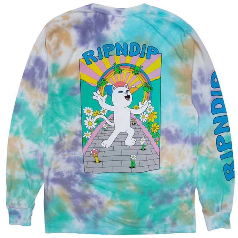 RIPNDIP Lucky Charms Longsleeve T-Shirt Multi Tie Dye Wash