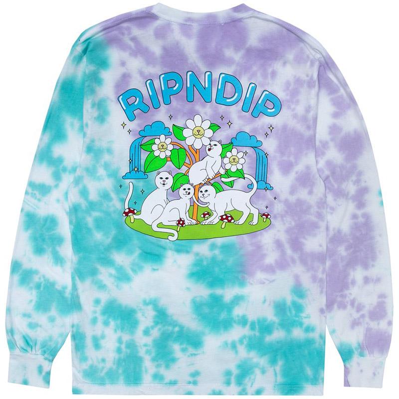 RIPNDIP Magical Place Longsleeve T-Shirt Tie Dye