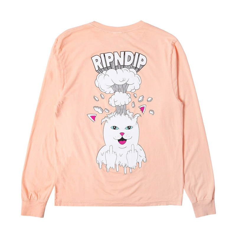 RIPNDIP Mind Blown Longsleeve T-Shirt Peach