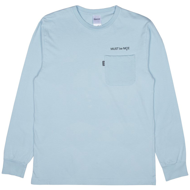 RIPNDIP Mother Longsleeve T-Shirt Baby Blue