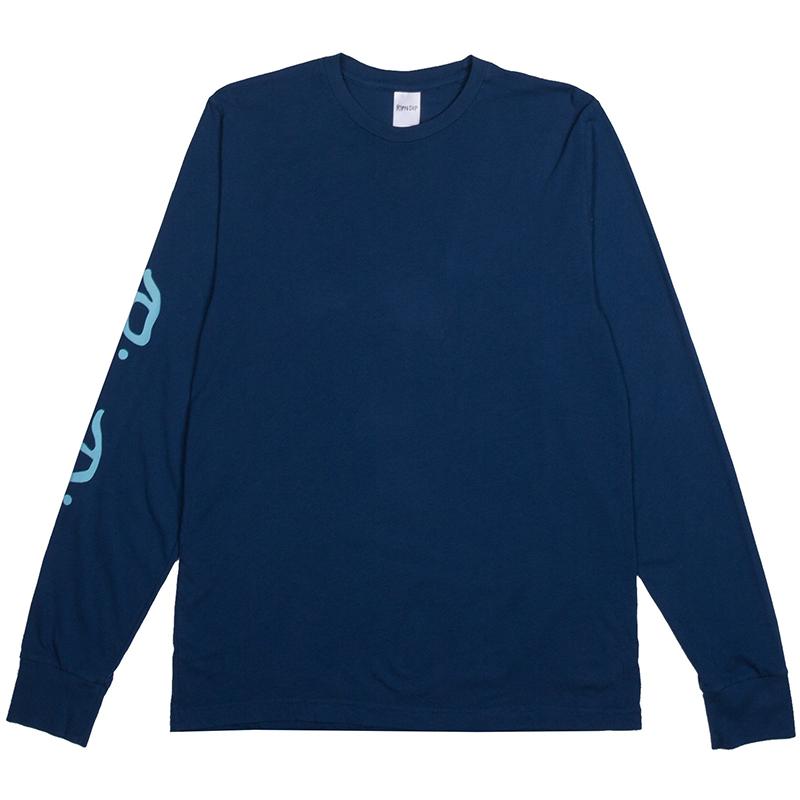 RIPNDIP Nerm Beard Longsleeve T-Shirt Cobalt Blue