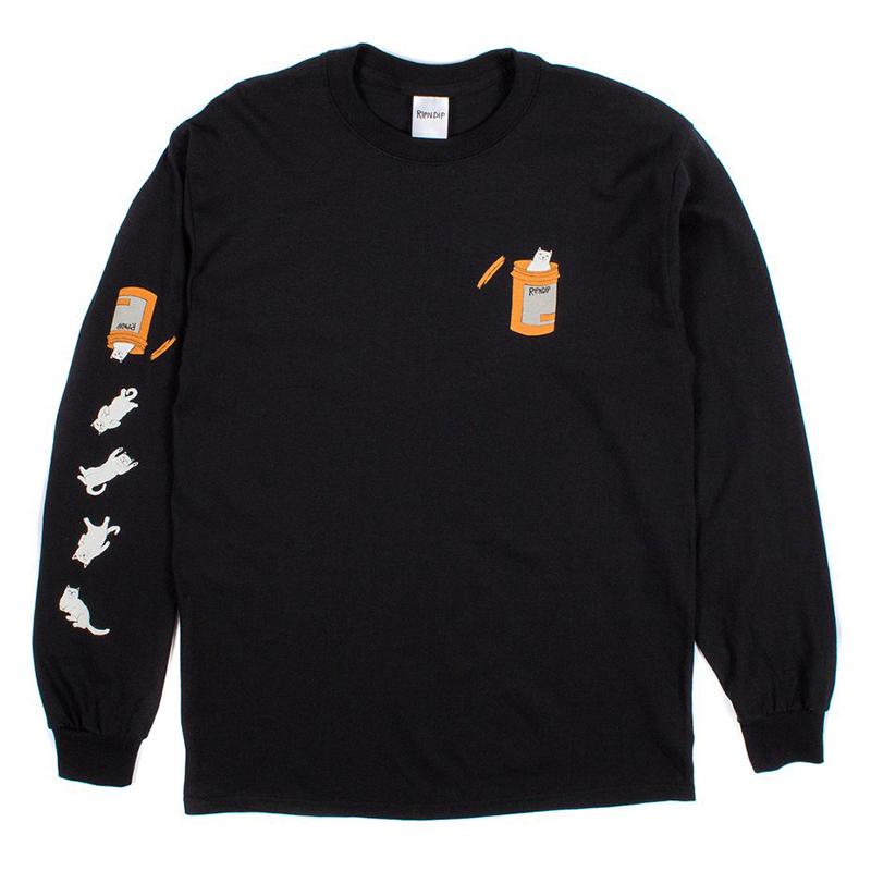 RIPNDIP Nermal Pills Longsleeve T-Shirt Black