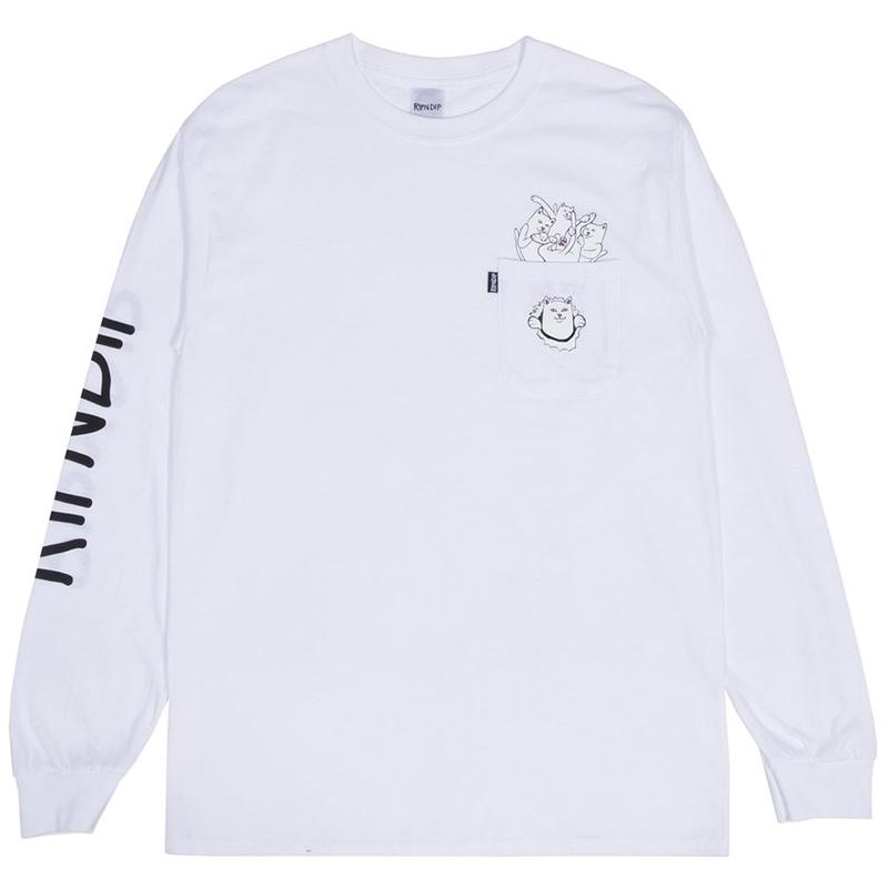 RIPNDIP Nermamaniac Longsleeve T-Shirt White