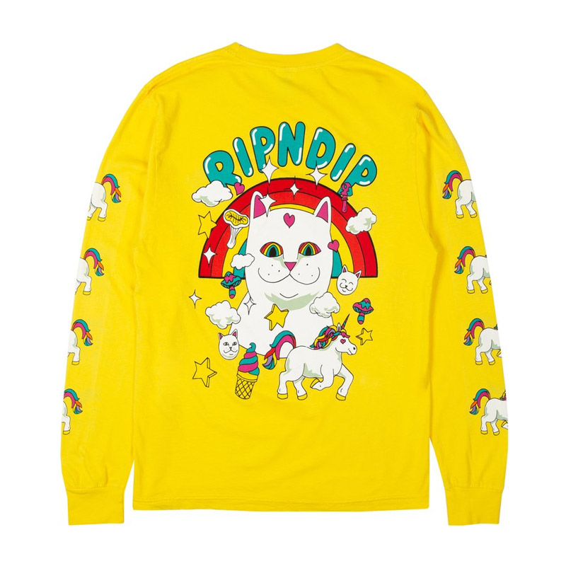 RIPNDIP Nermland Longsleeve T-Shirt Yellow