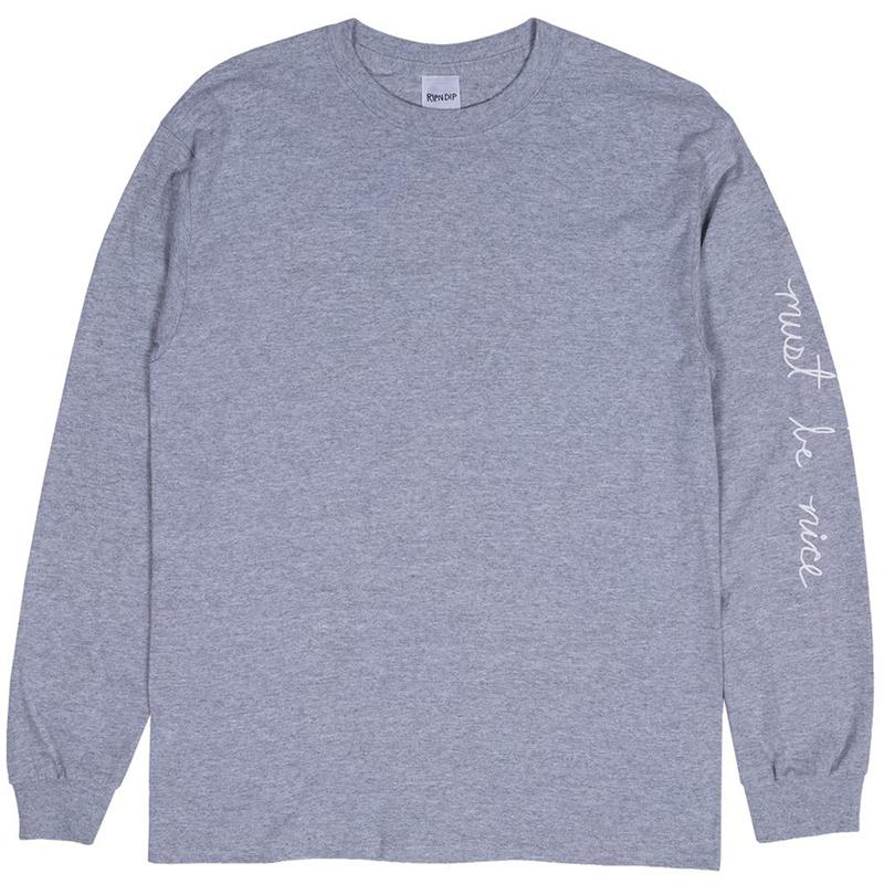 RIPNDIP Romantic Nerm Longsleeve T-Shirt Heather Grey